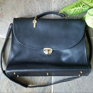 $64 FIRM 💼Jack Georges Black Leather Briefcase